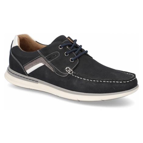 Frank Walker nubuk Športová šnurovacia obuv modrá