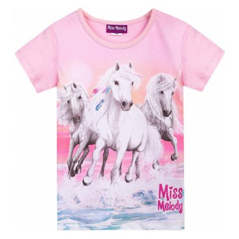 Miss Melody Tričko  ružová / svetlosivá / biela / ružová / svetlomodrá