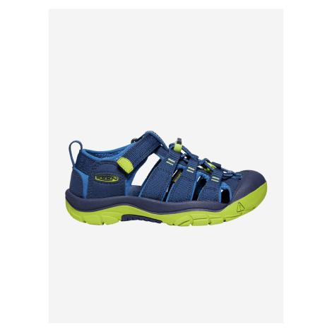 Topánky Keen Newport H2 Jr. Blue Depths/Chartreuse Us Modrá