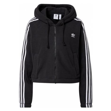 ADIDAS ORIGINALS Flisová bunda  čierna / biela