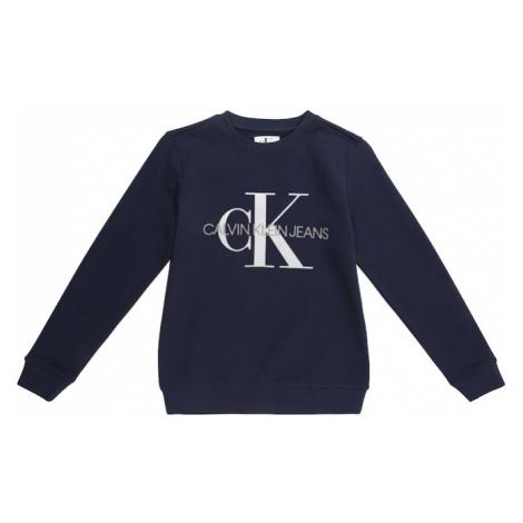 Calvin Klein Jeans Mikina  biela / tmavomodrá / sivá