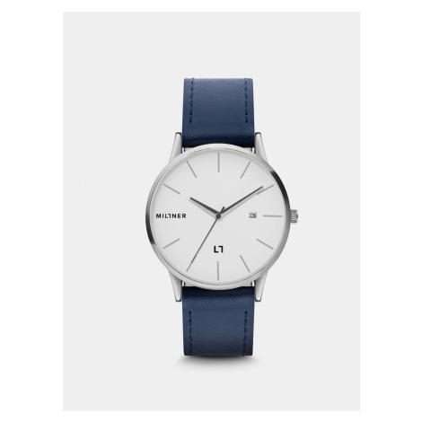 Pánske hodinky s modrým koženkovým remienkom Millner Rodney
