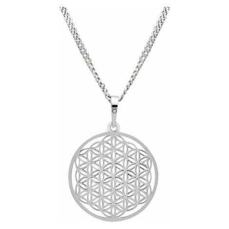 Praqia Strieborný náhrdelník Mandala KO1785m_CU050_50_RH (retiazka, prívesok)