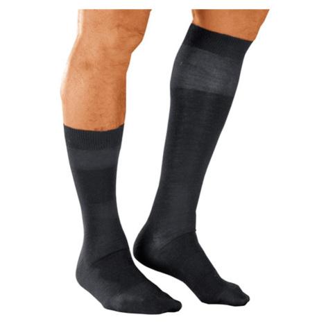 Blancheporte Ponožky s masážnym efektom, 98 % bavlna, 2 páry sivá