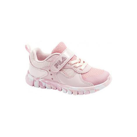 Ružové tenisky na suchý zips Fila