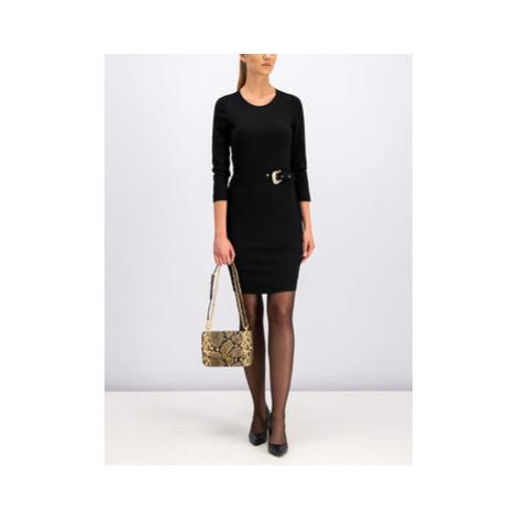 Just Cavalli Koktejlové šaty S02CT0935 Čierna Slim Fit