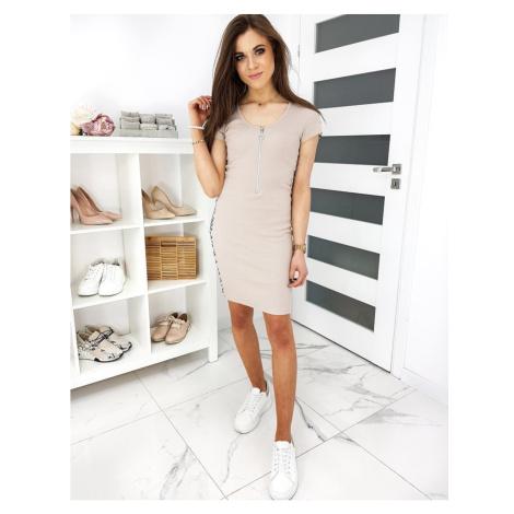 BELINDOS beige dress EY1163 DStreet