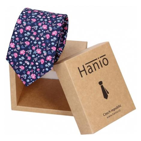 Pánska hodvábna kravata Hanio Titus - modrá