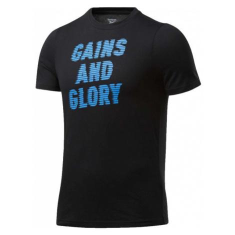Reebok GS OPP TEE GRAPHIC čierna - Pánske tričko