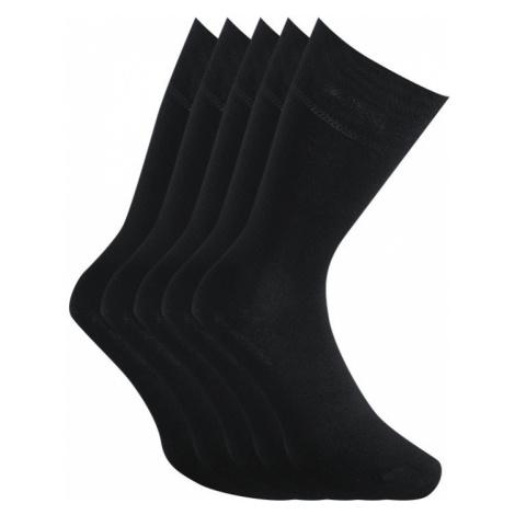 5PACK ponožky Styx vysoké bambusové čierne (HB96060606060) L