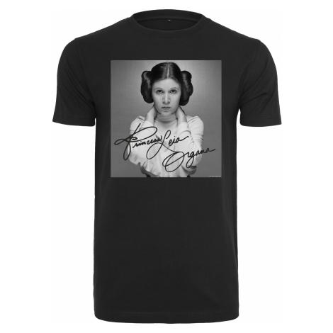 Dámske tričko MERCHCODE Ladies Star Wars Princess Leia Organa Tee Farba: black