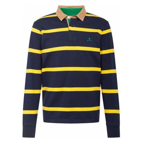 GANT Tričko 'BRETON'  žltá / tmavomodrá / béžová