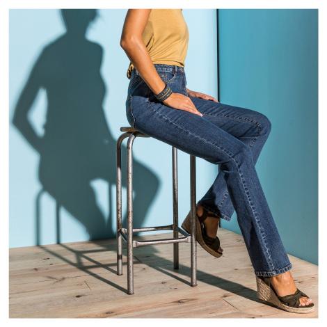 Blancheporte Rovné džínsy pre nízku postavu denim