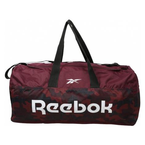 REEBOK Športová taška  pastelovo červená / biela / čierna / vínovo červená / tmavomodrá