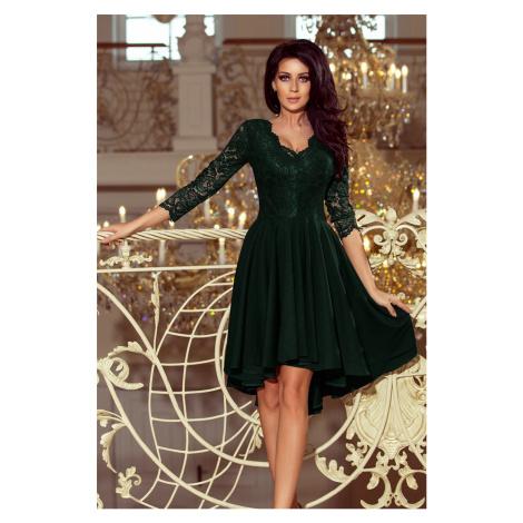 Dámske čierno-zelené mini šaty VIOLETTA 210-3