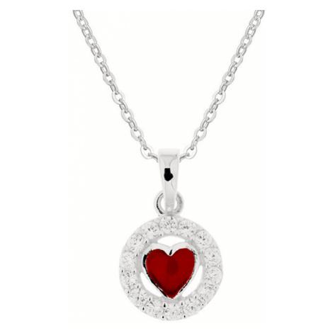 Praqia Strieborný dievčenské náhrdelník Maminčina láska KO8069_BR030_40_RH (retiazka, prívesok)