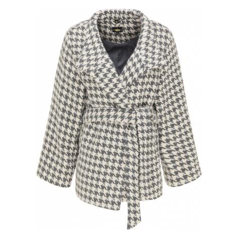 usha BLACK LABEL Prechodný kabát  sivá / krémová