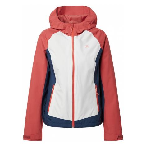 Schöffel Outdoorová bunda  biela / námornícka modrá / pastelovo červená