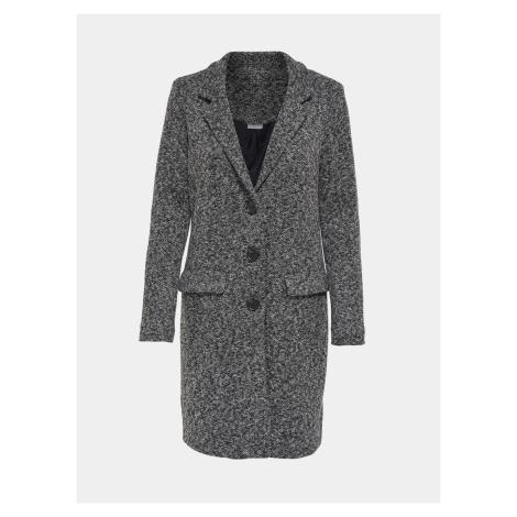 Šedý žíhaný kabát Jacqueline de Yong Besta