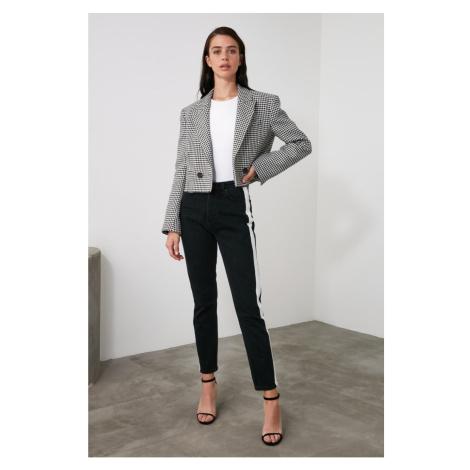 Trendyol High Waist Mom Jeans WITH Black Side Stripe