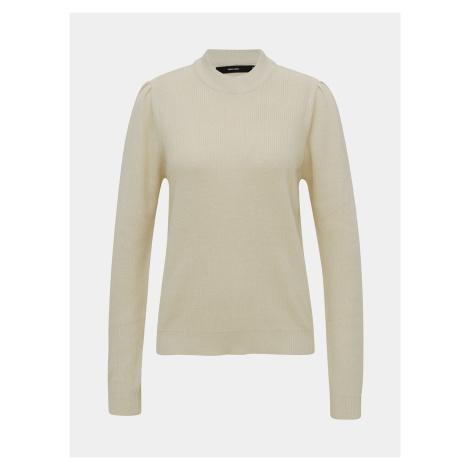 Krémový ľahký sveter so stojačikom VERO MODA Galex