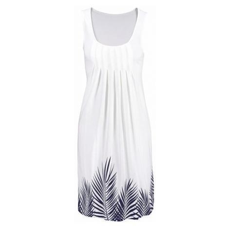 BEACH TIME Plážové šaty  tmavomodrá / biela Beachtime