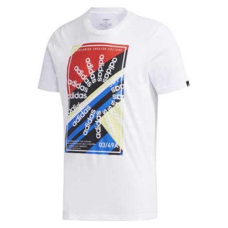 adidas CLIMA SLGN T biela - Pánske športové tričko