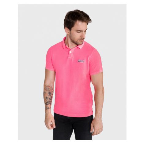 SuperDry Polo tričko Ružová