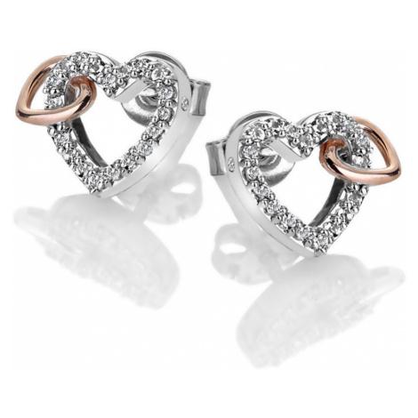 Hot Diamonds Trblietavé náušnice s pravým diamantom Flora DE606