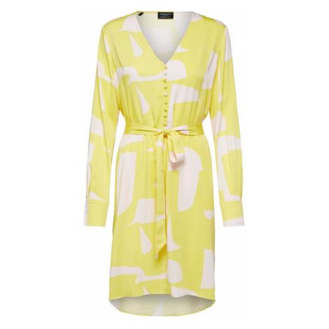 SELECTED FEMME Šaty  žltá / biela