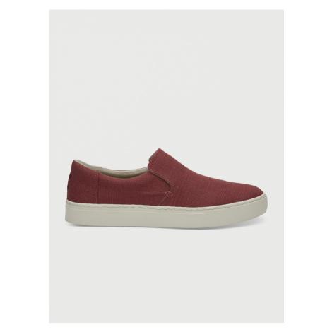 Topánky Toms Henna Red Heritage Canvas Mn Loma Slipon Červená