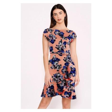Kvetinové priliehavé šaty Little Mistress
