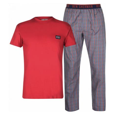 Ben Sherman Sherman Pyjama Gift Set Mens Red Check