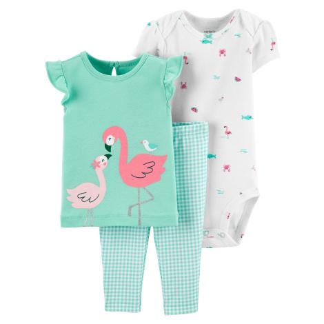 CARTER'S Set 3-dielny body, tričko kr. rukáv, nohavice Flamingo dievča LBB 6 m/vel. 68