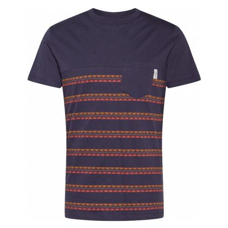 Iriedaily Tričko 'Monte Noe'  oranžová / námornícka modrá / svetločervená