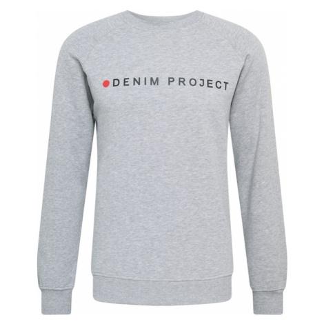 Denim Project Mikina  sivá melírovaná