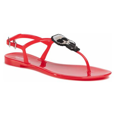 Sandále KARL LAGERFELD - KL80060  Red Rubber