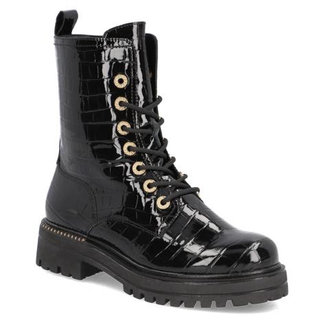 TAMARIS snurovacia obuv čierna