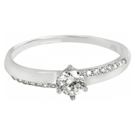 Brilio Zlatý zásnubný prsteň s kryštálmi 001 07 mm