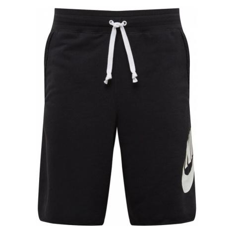 Nike Sportswear Nohavice  biela / čierna