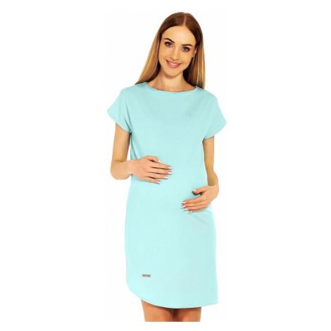 Tehotenské šaty Terry tyrkysové PeeKaBoo