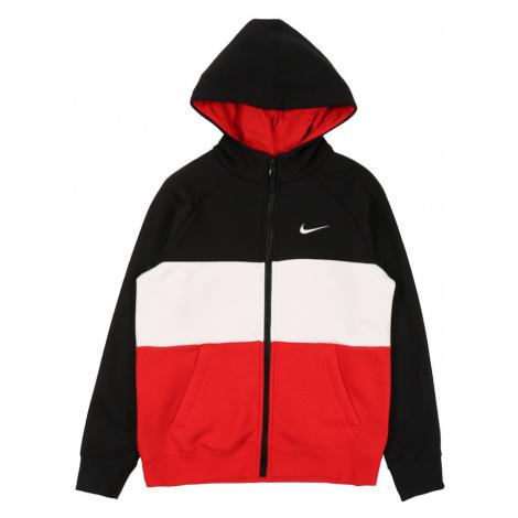 Nike Sportswear Tepláková bunda  červená / čierna / biela