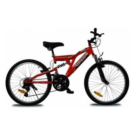 Olpran MAGIC 24 červená - Detský celoodpružený bicykel
