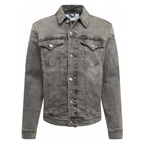 Calvin Klein Jeans Prechodná bunda 'Foundation'  sivý denim