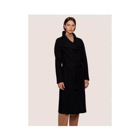 Boss Vlnený kabát Cedani 50395591 Čierna Regular Fit Hugo Boss