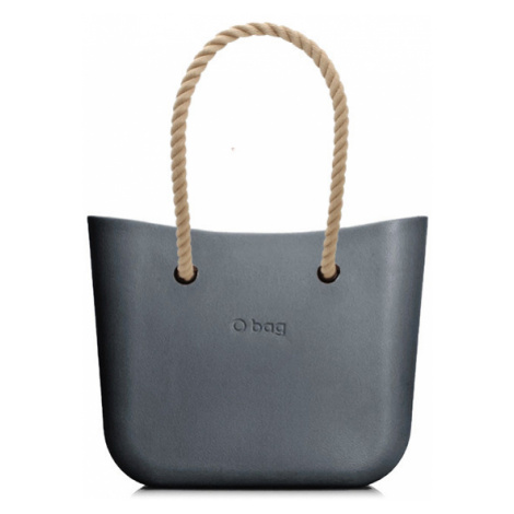 Obag mini grafite s povrazom natural O bag
