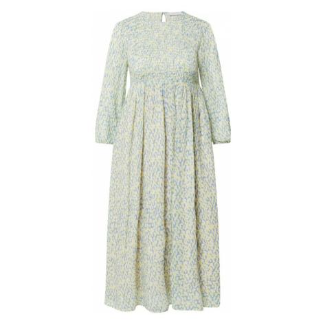 Rich & Royal Šaty  modrosivá / žltá / biela