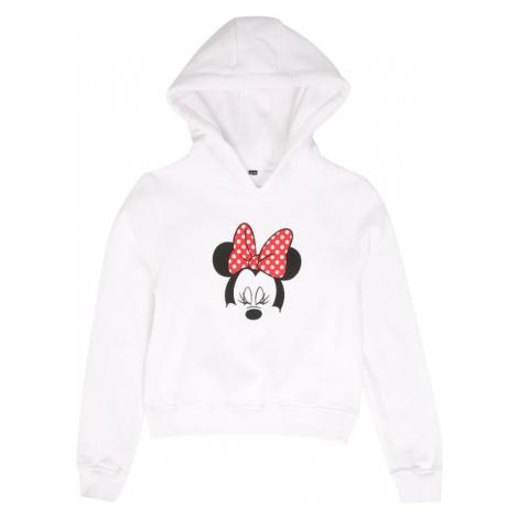 Mister Tee Mikina 'Minnie Mouse'  biela / čierna / červená