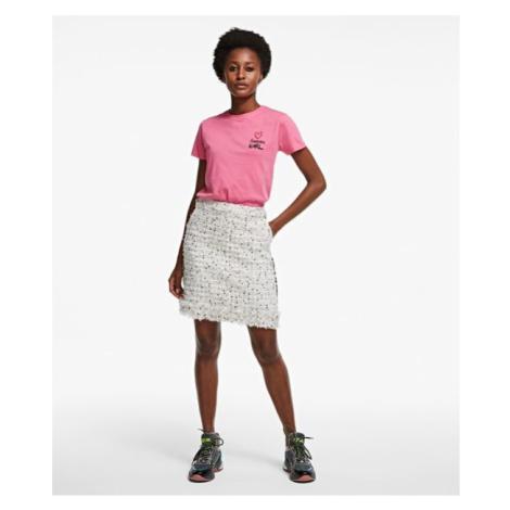 Sukňa Karl Lagerfeld Boucle Skirt W/ Fringes