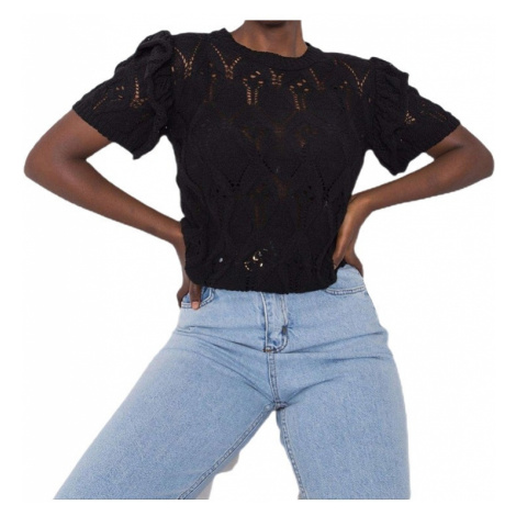 čierna dámska pletená blúzka Rue Paris